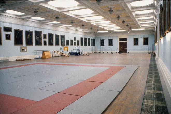 Welbeck Abbey:  underground ballroom (1986)