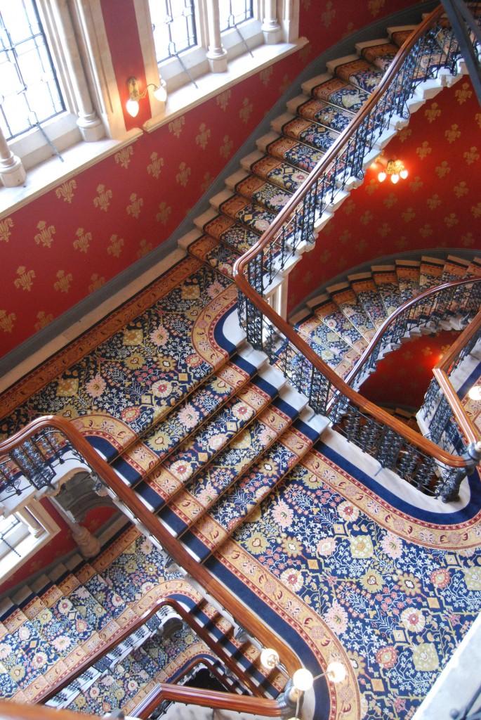 St Pancras Renaissance Hotel:  grand staircase (2011)