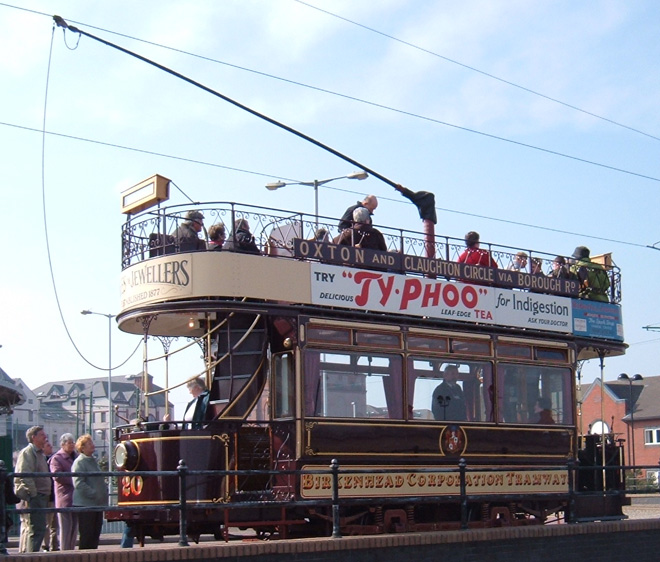 Merseyside Tramway Preservation Society:  Birkenhead Corporation Tramways 20 at Woodside Ferry