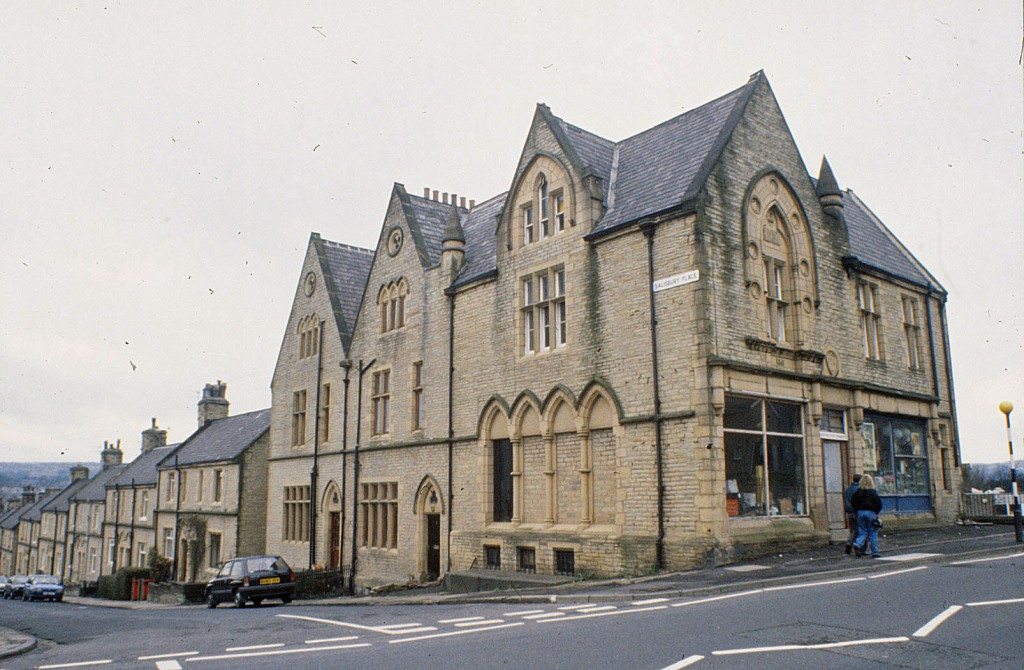 Salisbury Terrace and former co-operative store, Akroydon, Halifax (1992)