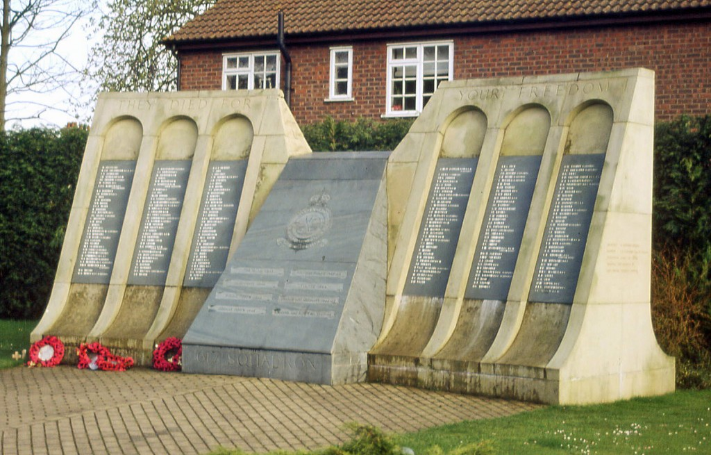 """Memorial to 617 Squadron, """"The Dambusters"""", Woodhall Spa, Lincolnshire"""