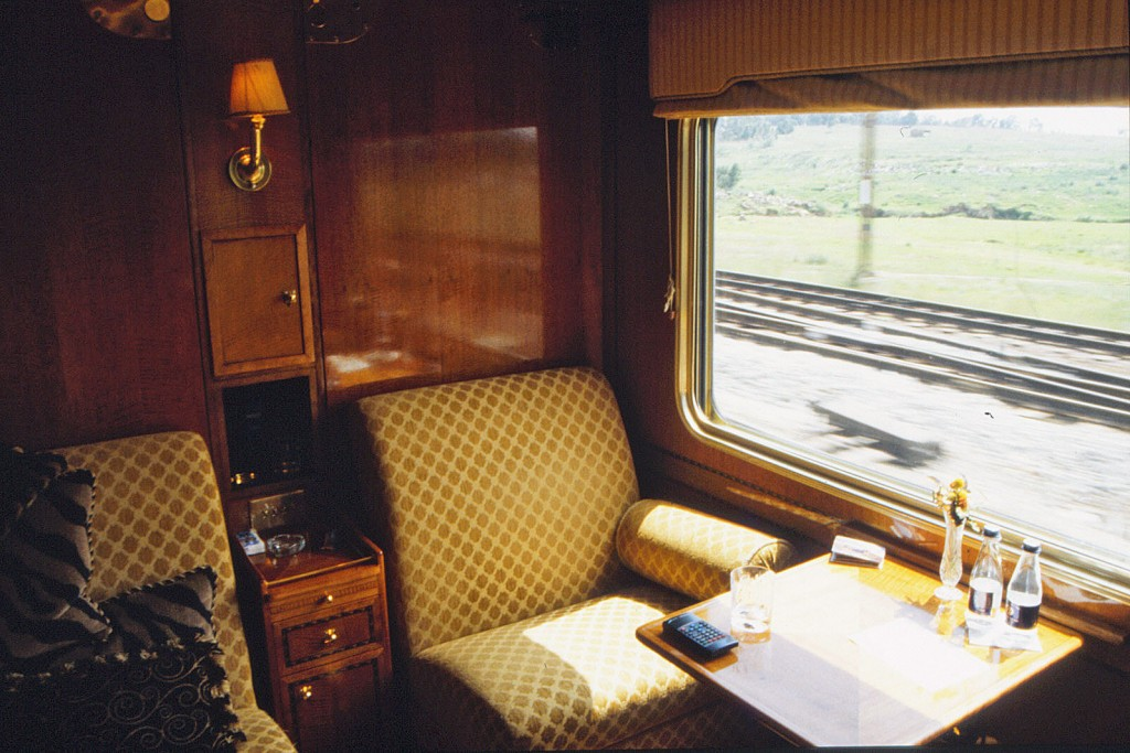 The Blue Train, Kimberley, South Africa:  passenger compartment interior