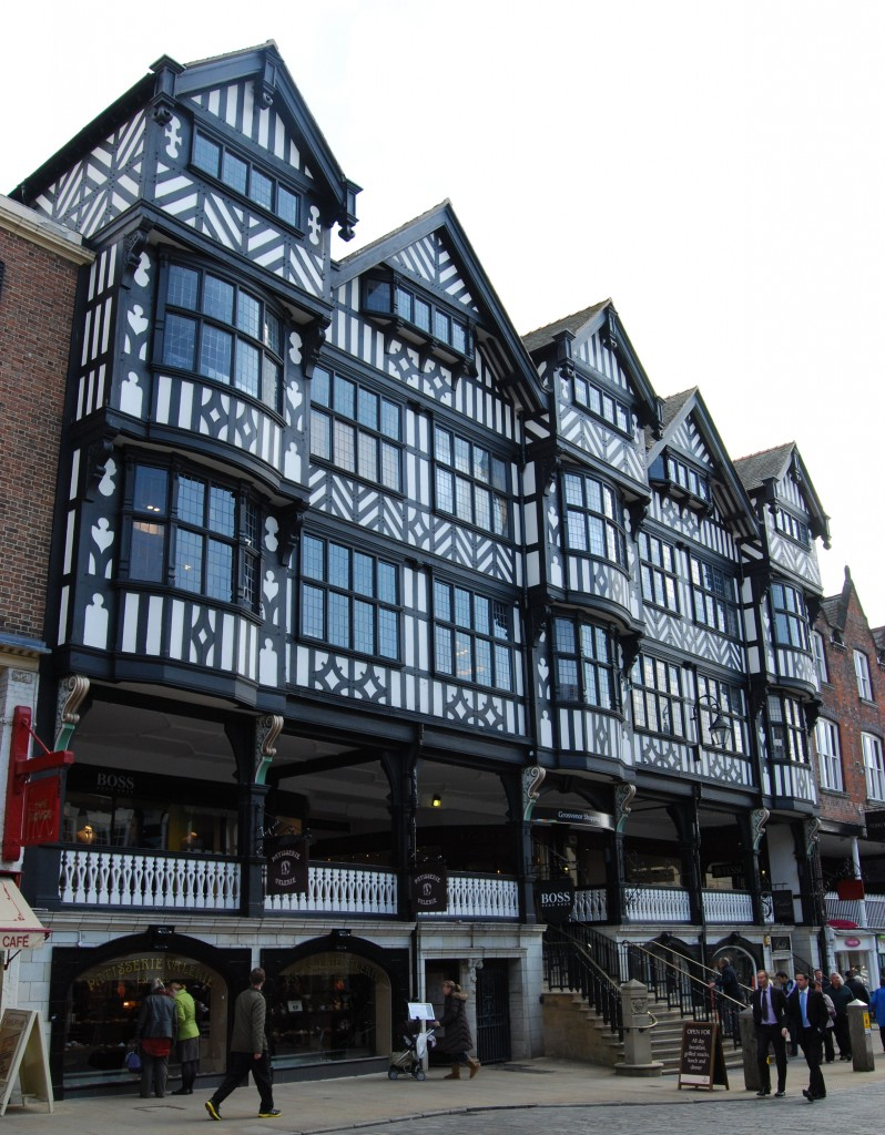 St Michael's Row and Arcade, Chester:  1912 façade