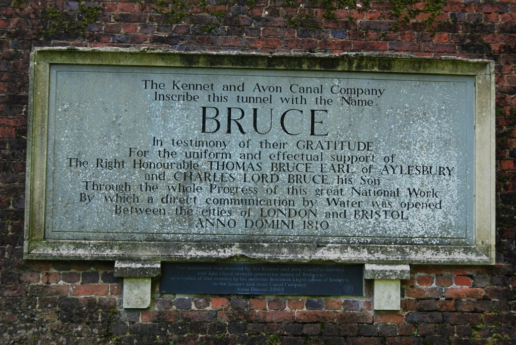 Bruce Tunnel, Kennet & Avon Canal, Wiltshire: west portal – 2003 inscription