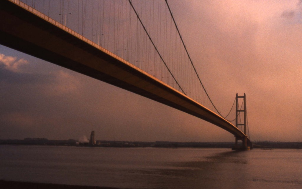 Humber Bridge, viewed from Hessle, East Yorkshire