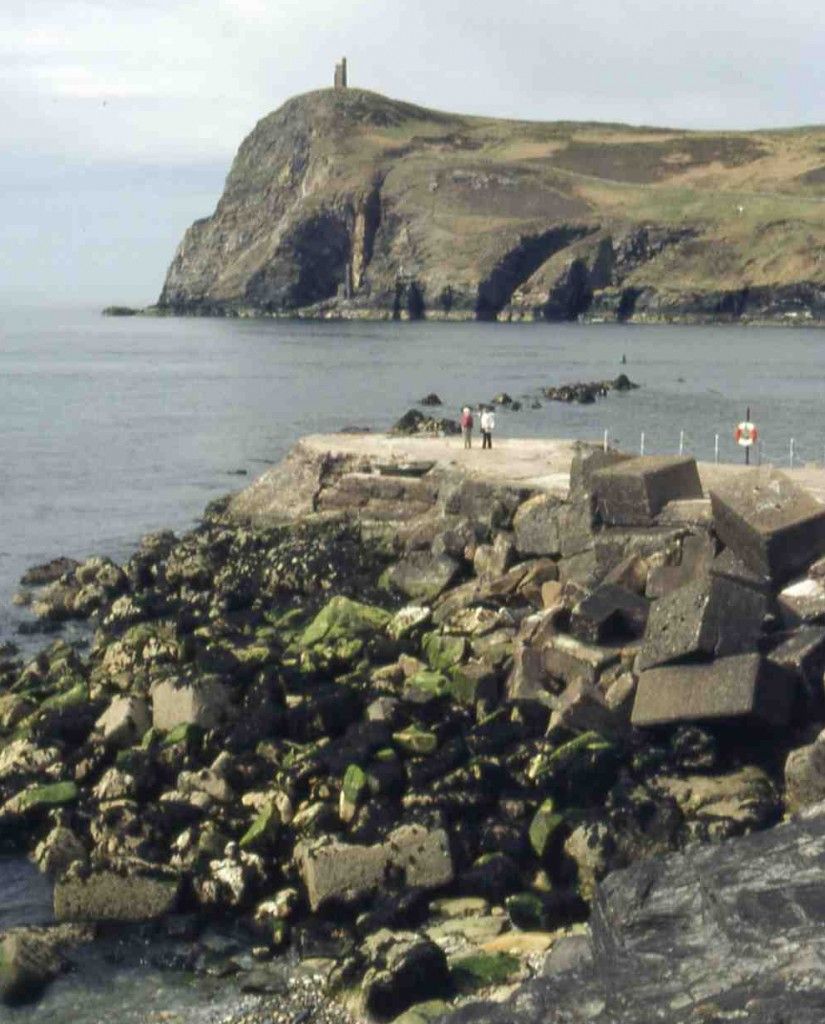 Port Erin, Isle of Man:  remains of breakwater
