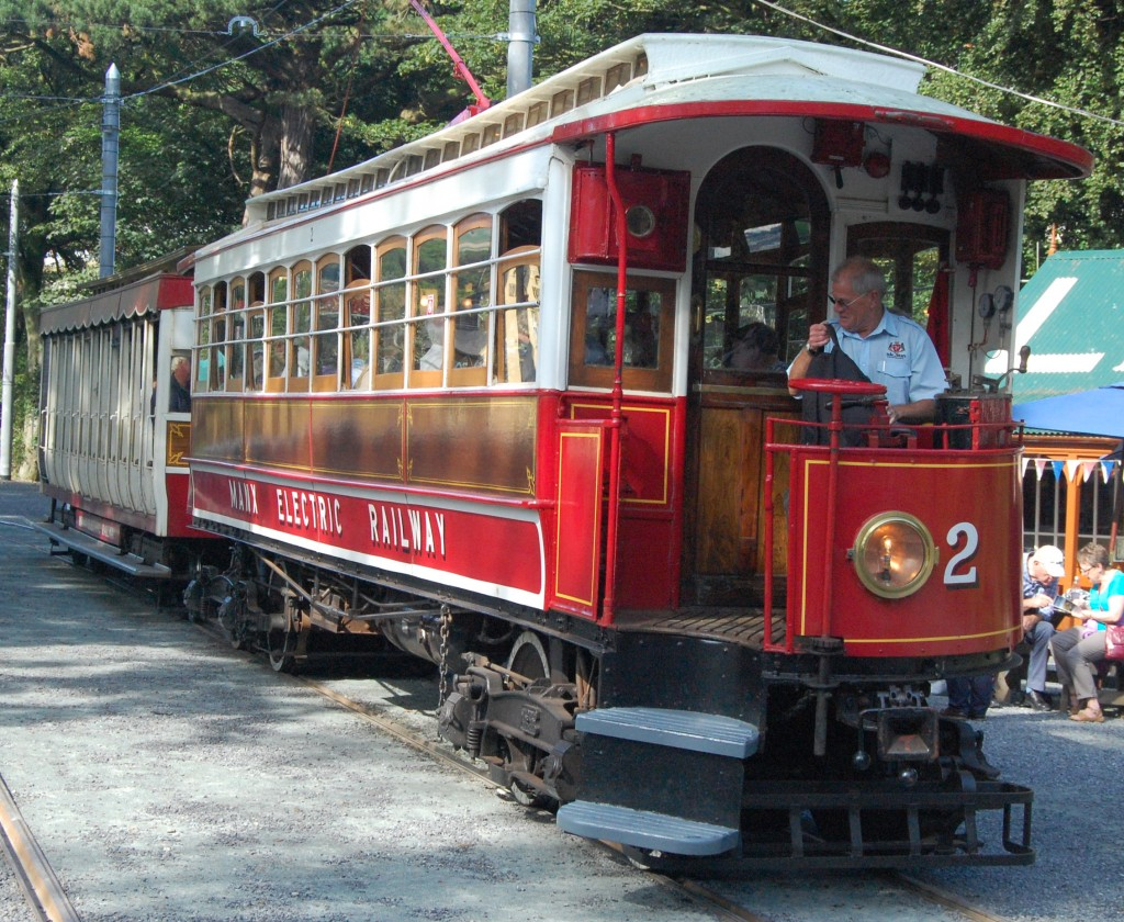 Manx Electric Railway motor-car 2, with trailer 41