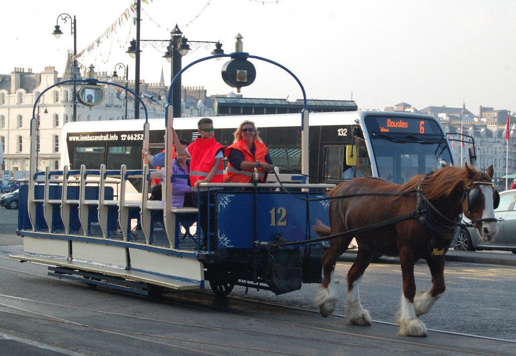 Douglas, Isle of Man:  horse-tram 12 (September 11th 2014)