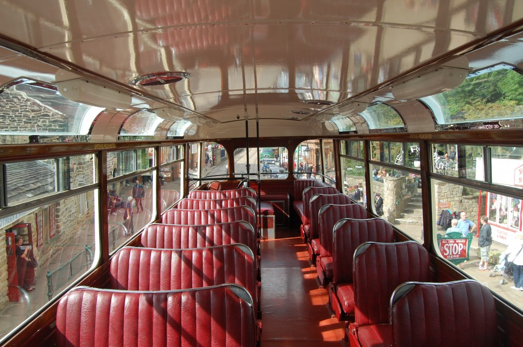 National Tramway Museum, Crich, Derbyshire:  Sheffield 510, upper-deck interior