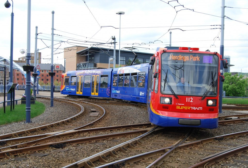 Park Square supertram junction, Sheffield