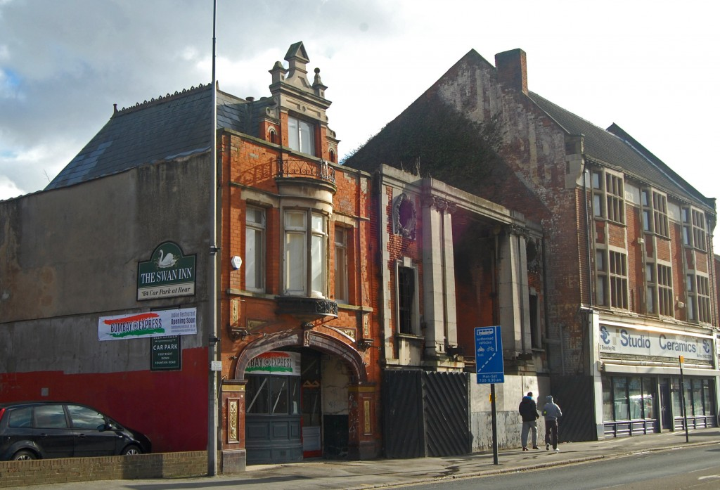 Former Swan Inn, National Picture Theatre and Jubb's furniture store, Beverley Road, Hull