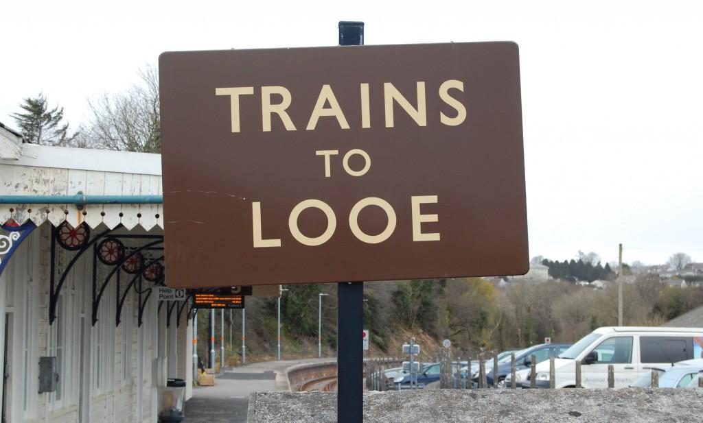 Liskeard railway station, Cornwall:  platform 3