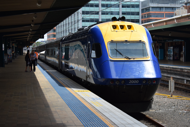 NSW TrainLink XPT power car 2000, Sydney Central Station